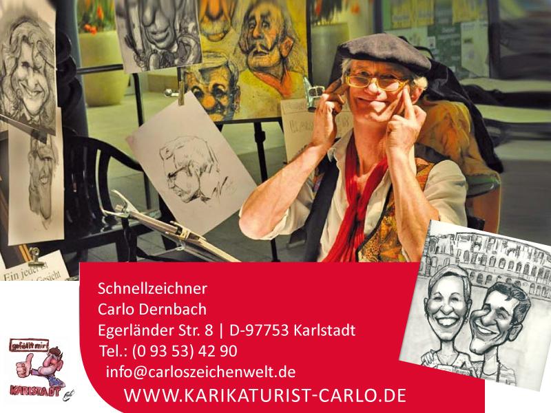 Carlo gibt jeder Veranstaltung eine persönliche Note.   Als französischer Montmartre-Maler zeichnet er spaßig, humorvolle Karikaturen oder sympathisch, realistische Portraits in 2-3 Minuten (im Profil und s/w).  Eine ideale Verbindung von Erlebnis und Geschenk ...