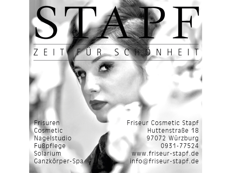 ZEIT FÜR SCHÖNHEIT IN WÜRZBURG ... sind Sie bei uns genau richtig!!! Erkunden Sie die Welt der Schönheit bei Friseur Cosmetic Stapf. Viel Spaß dabei!